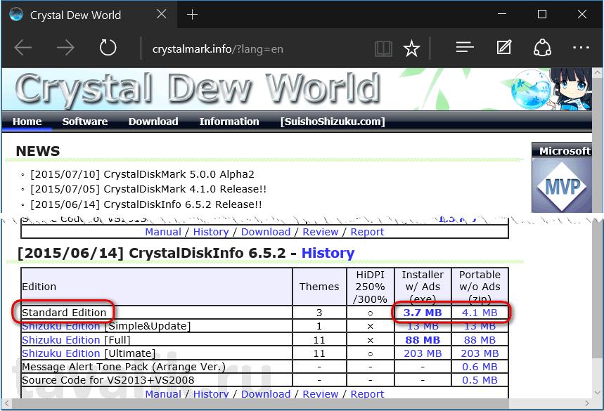 Диагностика жёсткого диска с бесплатной программой CrystalDiskInfo